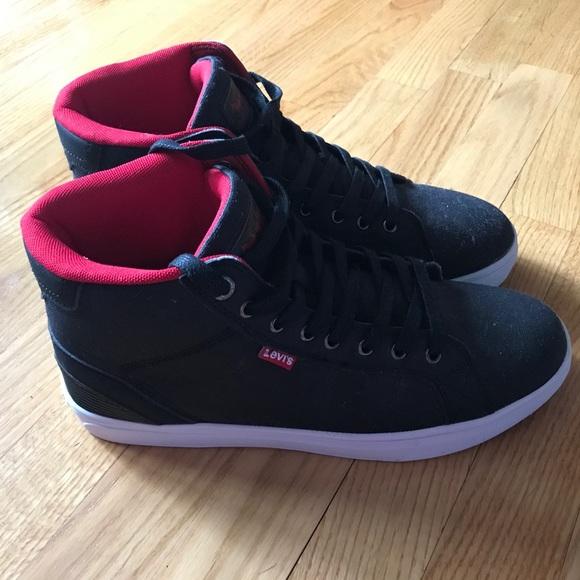 Levi's Shoes | Levis Black High Topsred
